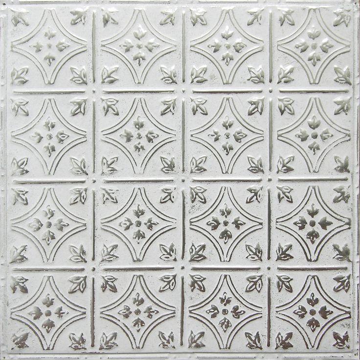 17 best images about white tin tiles on pinterest coins for Tin ceiling tiles backsplash