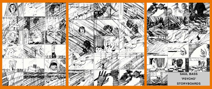 Saul Bass's storyboard for the Psycho shower scene - and the debate over whether it was Hitchcock or Bass who really directed the scene.