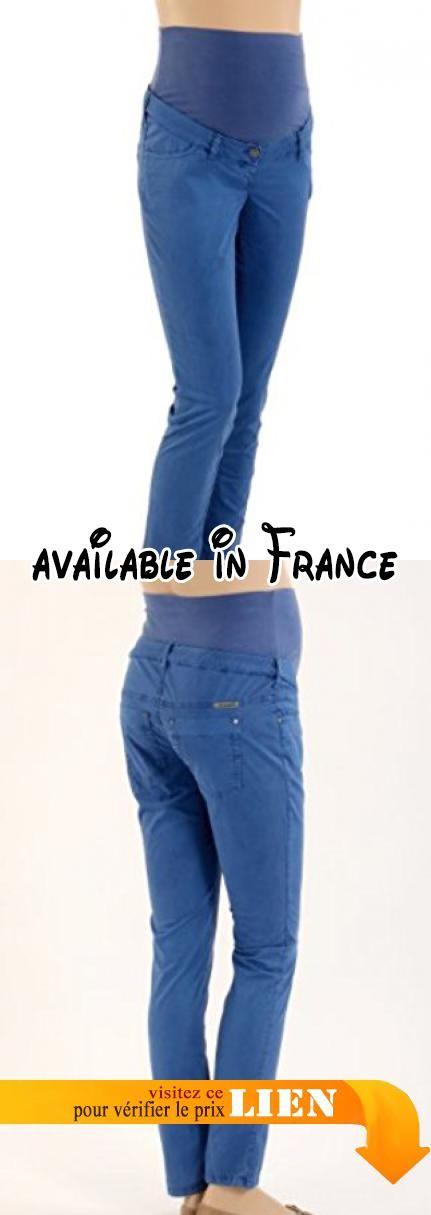 Christoff - Pantalon - Skinny/Slim Fit - Femme - Bleu (Royalblau) - FR : 42W (Taille fabricant : 42).  #Apparel #PANTS