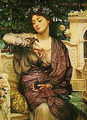 Sir Edward John Poynter - Lesbia and her Sparrow (British 1836-1919)