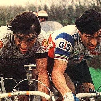 Gilbert Duclos-Lasalle, Francesco Moser Paris Roubaix 1981