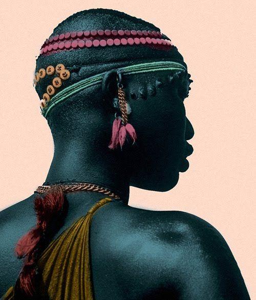 An absolutely beautiful woman of the Shilluk tribe. Sudan.  A beleza da mulher da tribo Shilluk - Sudão