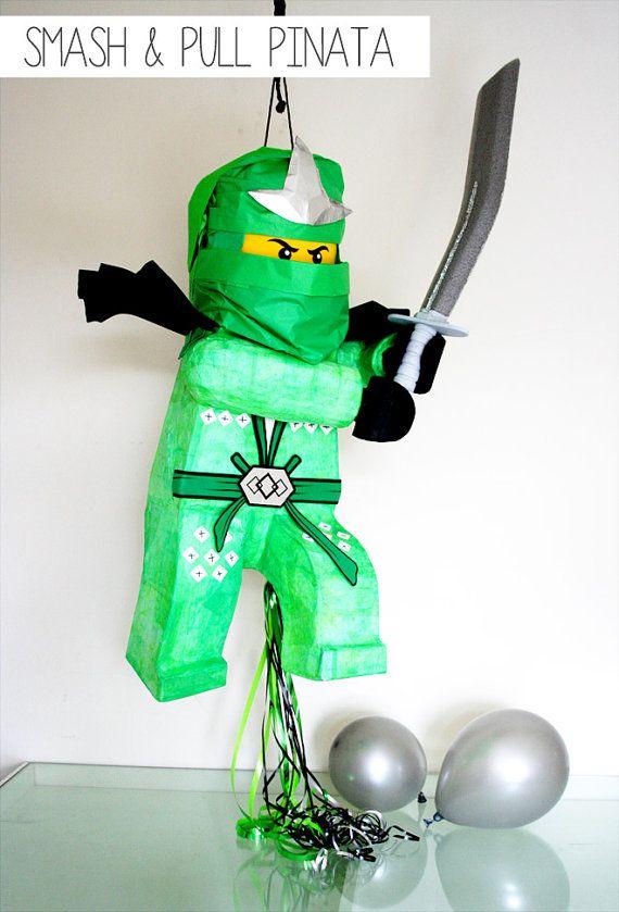 Lego Pinata Ninjago Pinata Ninjago by SmashandPullPinata on Etsy