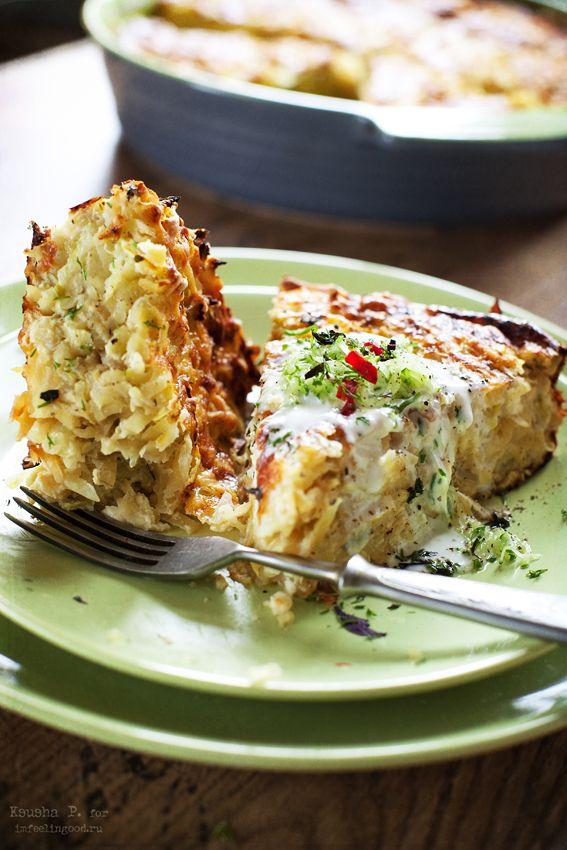 Рецепт картофельной запеканки с кабачками и фетой
