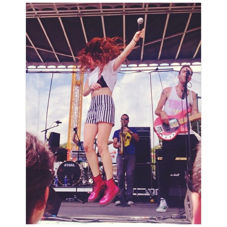 Mandy Lee Rocking out on stage at Made in America #MADESQUARE #MisterWives #LadiesWeLove
