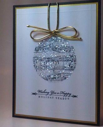 glitter homemade Christmas card idea