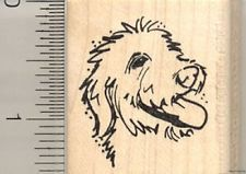 Small Labradoodle Profile Face rubber stamp D10714 WM