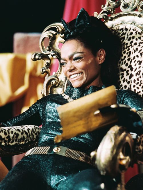 Eartha Kitt photographed as Catwoman for the television series Batman.