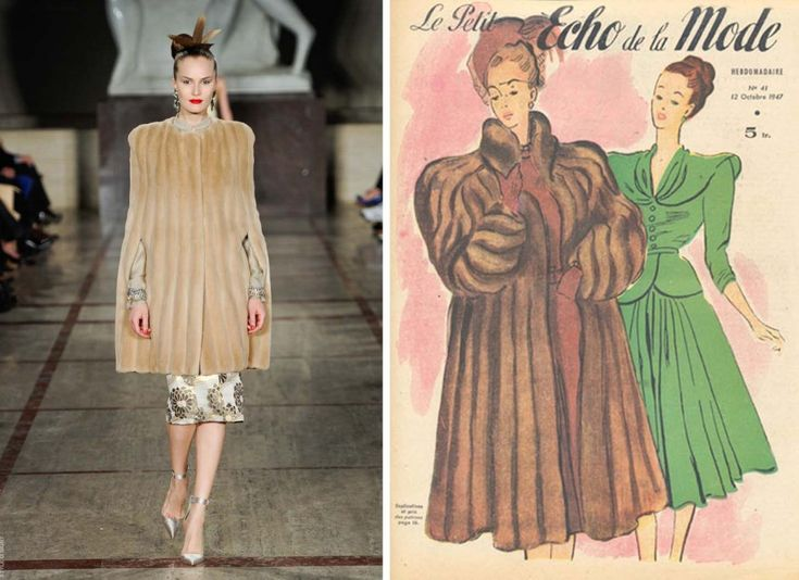 The image on the right (historical reference), Le Petit Echo de la Mode