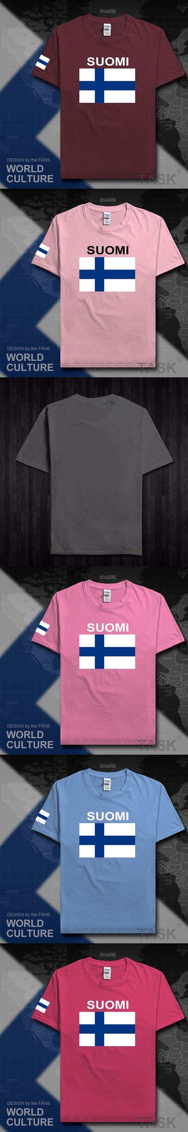 Finland men t shirts 2017 jerseys nation team tshirt cotton t-shirts meeting fitness clothing sporting tees country flags FIN FI