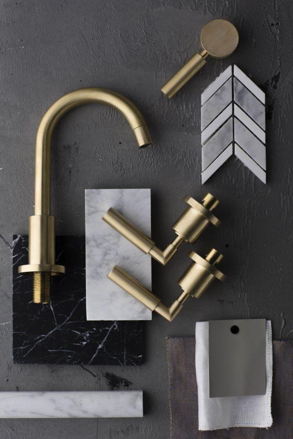 Gold bathroom sink taps