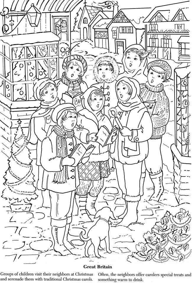 Christmas Around The World Coloring Great Britian