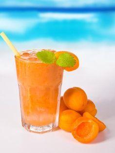 jus d'orange, abricot