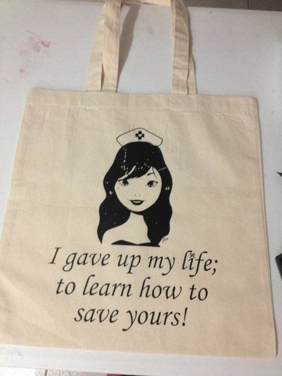 Would you use this tote? #ToteBags #Etsy #Nurses