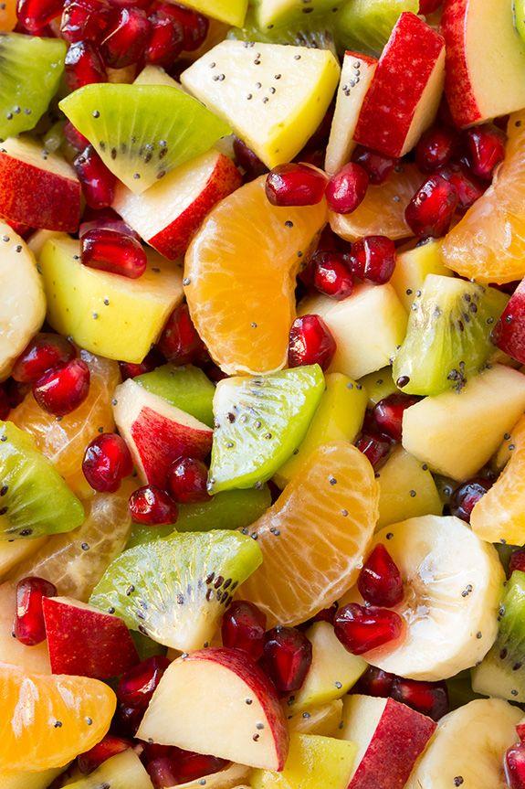 Winter Fruit Salad with Lemon Poppy Seed Dressing - Cooking Classy  3 Tbsp fresh lemon juice 3 Tbsp granulated sugar 1/4 cup olive oil   1/4 cup vegetable oil 3 Tbsp honey 2 tsp poppy seeds
