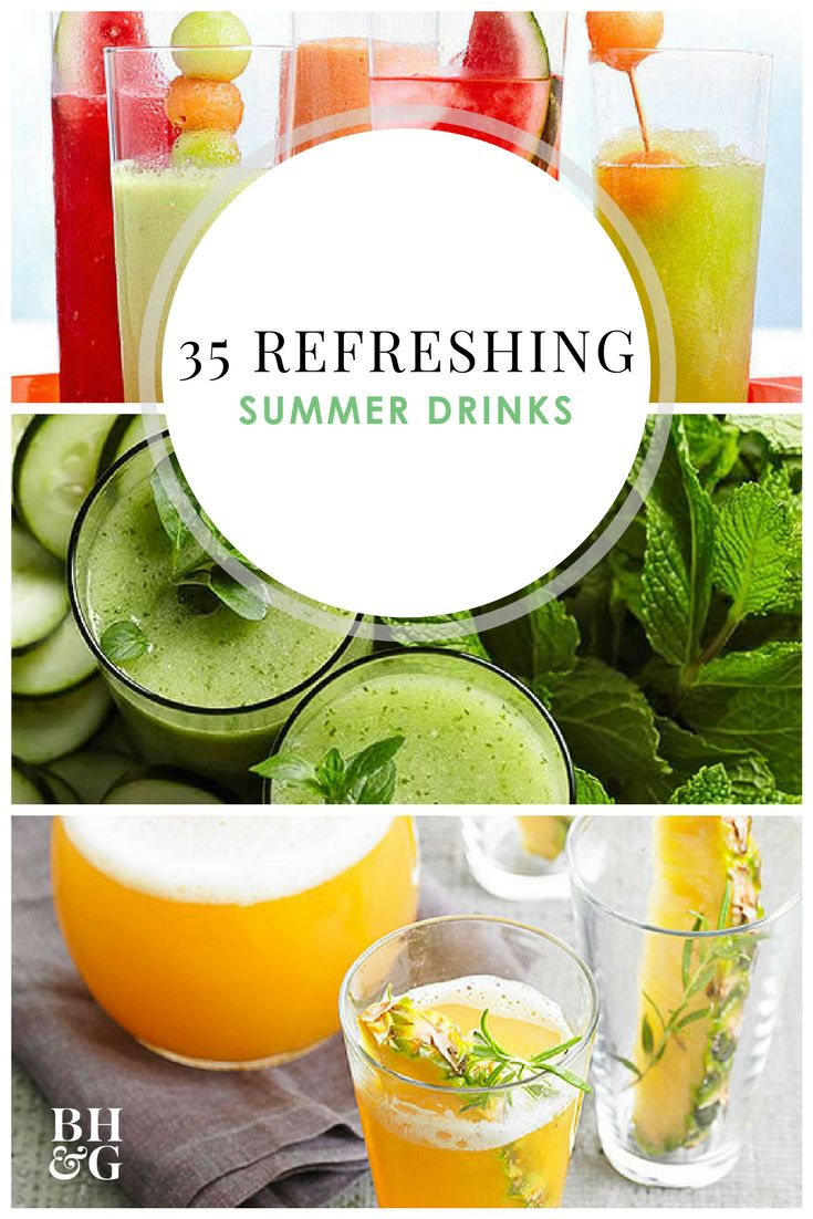 These are our favorite recipes for alcoholic and nonalcoholic summer drinks. You'll want to make all the refreshing beverages on this list, which includes recipes for drinks like #margaritas, #daiquiris, #sangria, and #lemonade. #summerdrinks