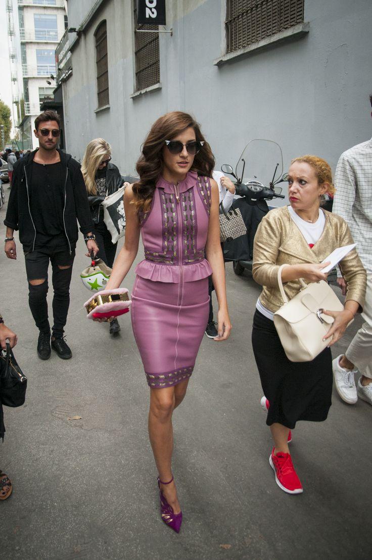 Milan Female Fashion Week SS15 - Eleonora Carisi @ DSQUARED2 show #mfw #milanfashionweek #dsquared2 #outfitideas