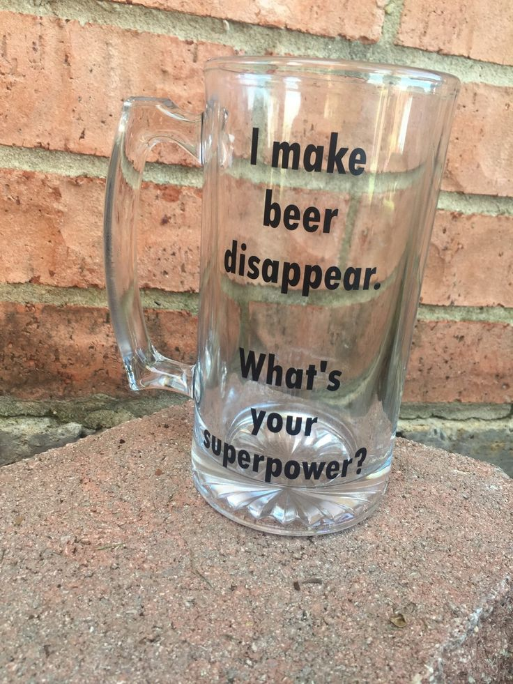 New to DashofFlair on Etsy: I Make Beer Disappear. What's Your Superpower? Beer Mug Funny Beer Mug Custom Beer Mug Fraternity Gift Beer Gifts 21st Birthday (18.00 USD)