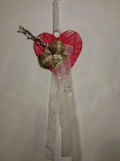 Twórczo Aktywnie Kreatywnie K.Lis: Wielkanocny stroik - serce