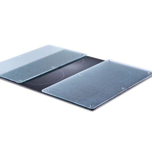 2-Stk-Ceranfeld-Herd-Abdeckplatte-Abdeckung-Glas-Schneidbrett-Herdabdeckplatte
