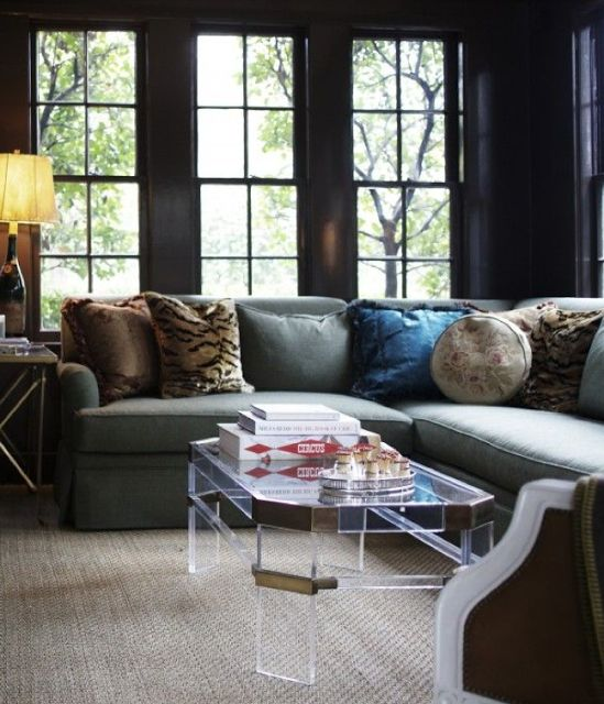 38 Best Modern Lucite, Glass And Brass Coffee Tables