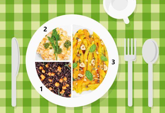 Piatto unico: peperoni gialli arrostiti, riso Venere e uova strapazzate