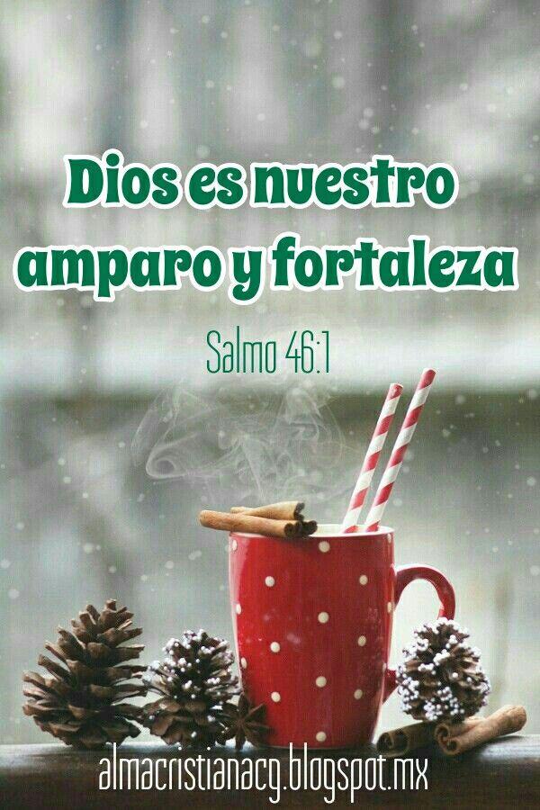 Dios es nuestro amparo y fortaleza, Nuestro pronto auxilio en las tribulaciones.  Salmo 46:1