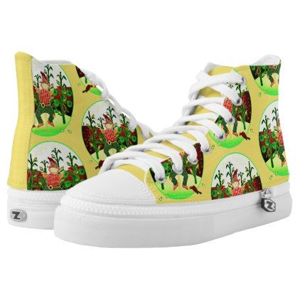 #Sunrise Scarecrow high-top-tennis-shoe High-Top Sneakers - #country gifts style diy gift ideas