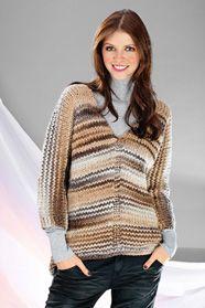 dámský ručně pletený svetr z příze Lorna