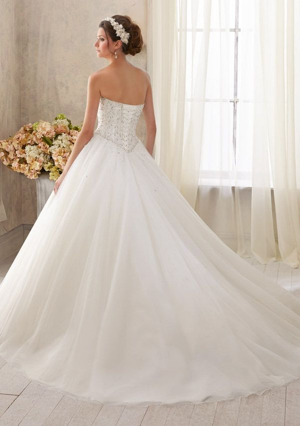 Bridal Dress From Blu By Mori Lee Dress Style 5216 Sparkling Crystal Beading on Tulle