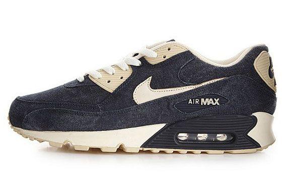 Nike Sportswear Denim Air Max 90 – Obsidian/Beach-Cashmere