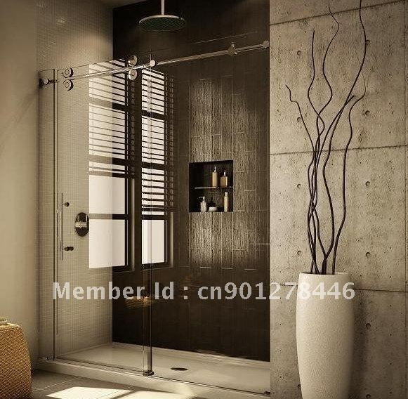 Frameless SLIDING GLASS SHOWER DOOR HARDWARE Free Shipping In Door Rollers  From Home Improvement On