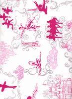 Tecido bailarina pink fundo rosa claro