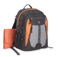 All Things Jeep - Jeep Sport Backpack Diaper Bag, Black/Orange/Gray