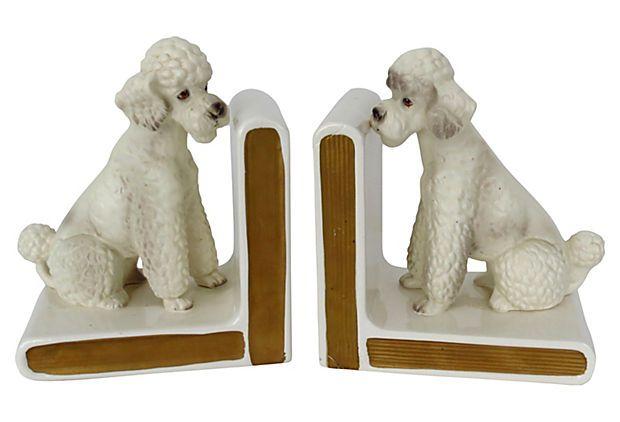 Midcentury Poodle Bookends on OneKingsLane.com