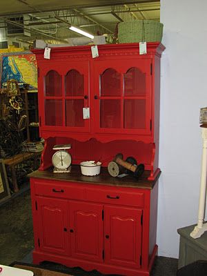 Paint the old hutch with a vibrant colour! We sold a bunch of these on our website.