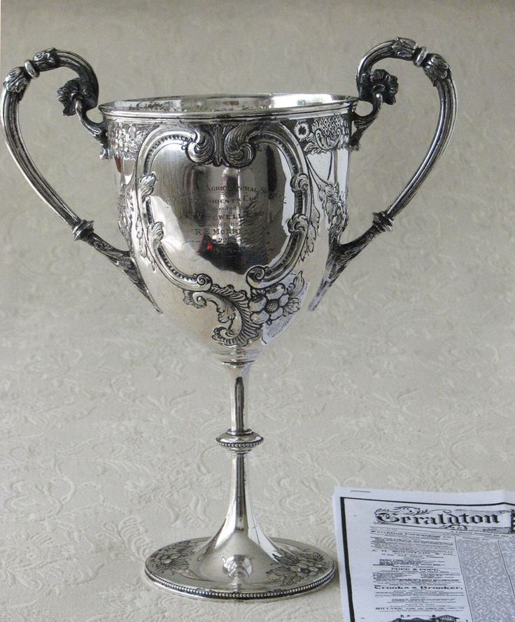 Latest acquisition - the 1911 Geraldton Agricultural Society President's Cup won by R.E. Morrell, Ironbarks Farm, Greenough.
