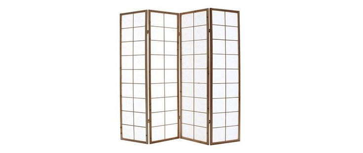 IKUYO Wood and Paper Japanese Screen