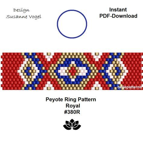 Design Patterns By Tutorials Pdf: peyote ring patternPDF-Download #380R beading pattern beading rh:pinterest.com,Design