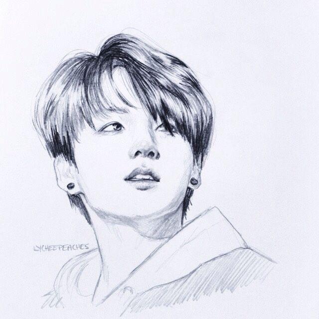 Jungkook Pencil Sketch | Trucs U00e0 Dessiner | Pinterest | Posts Sketches And Pencil