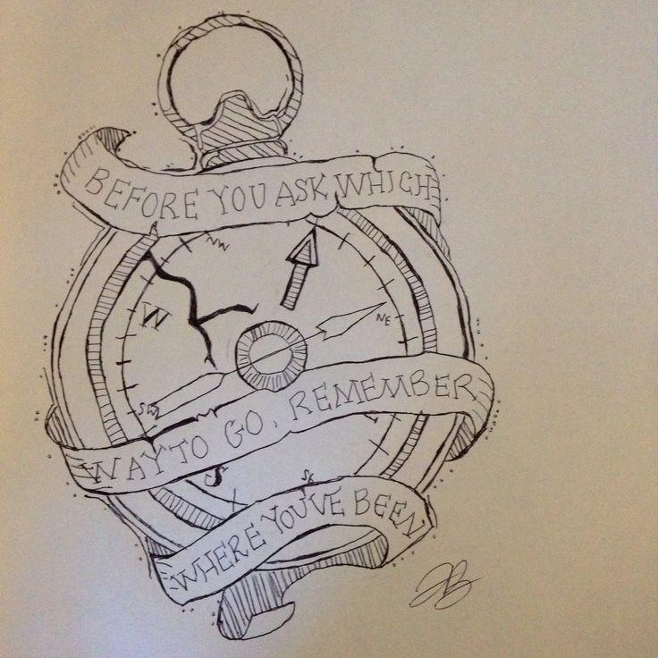 Compass Doodle Cute Quote Cute Doodles Doodles Sketches