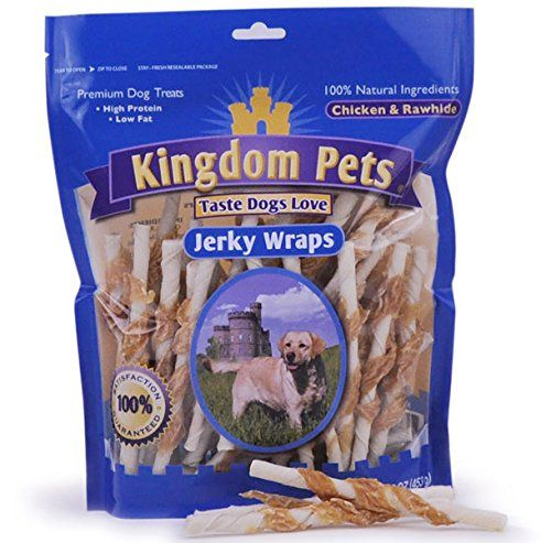 Kingdom Pets Premium Dog Treats Chicken And Rawhide Jerky Wraps 16 Ounce Bag Pet Chickens Premium Dog Treats Jerky Treats