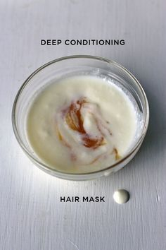 Dry, brittle, puffy, frizzy hair? I have just the thing for you! This DIY hair mask is made with three ingredients that will leave your hair looking great!