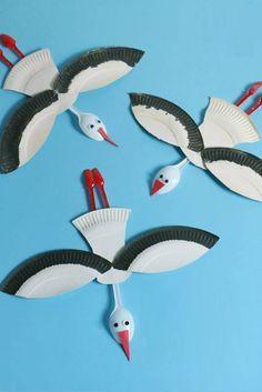 Γλάρος Υλικά: Πιάτα άσπρα χάρτινα (για party) Πλαστικά μαχαιροπίρουνα Ματάκια (Είδη Χειροτεχνίας) Χαρτόνι Σκληρό Πορτοκαλί Μαύρος Μαρκαδόρος Καλή επιτυχία!!! #glaros #craft #kids #xeirotexnies…