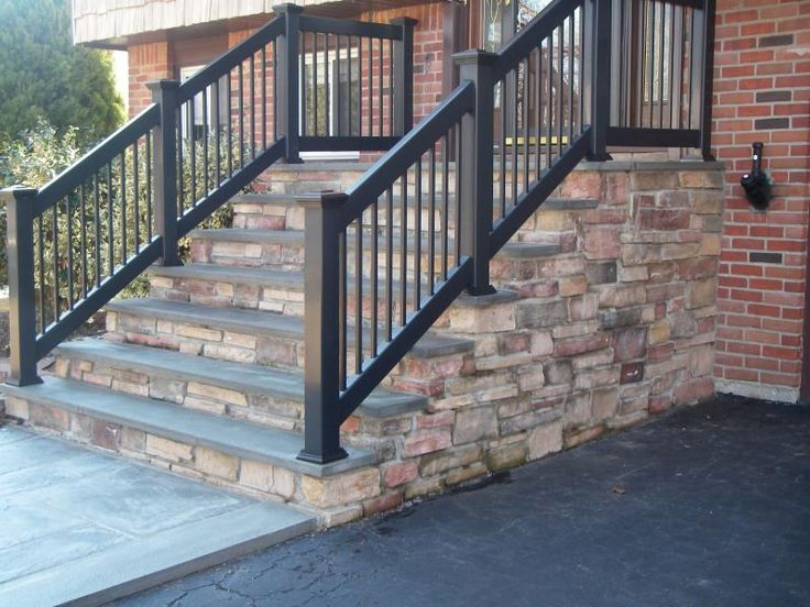 Concrete Front Steps Design Ideas Creating Designing All Phases Of Concrete Masonry | Installing Railing On Stone Steps