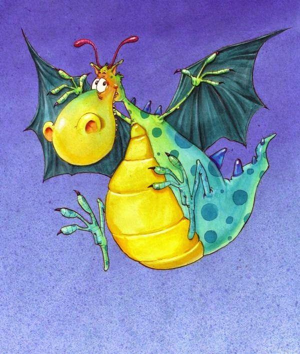 Днем рождения, смешной дракончик картинки