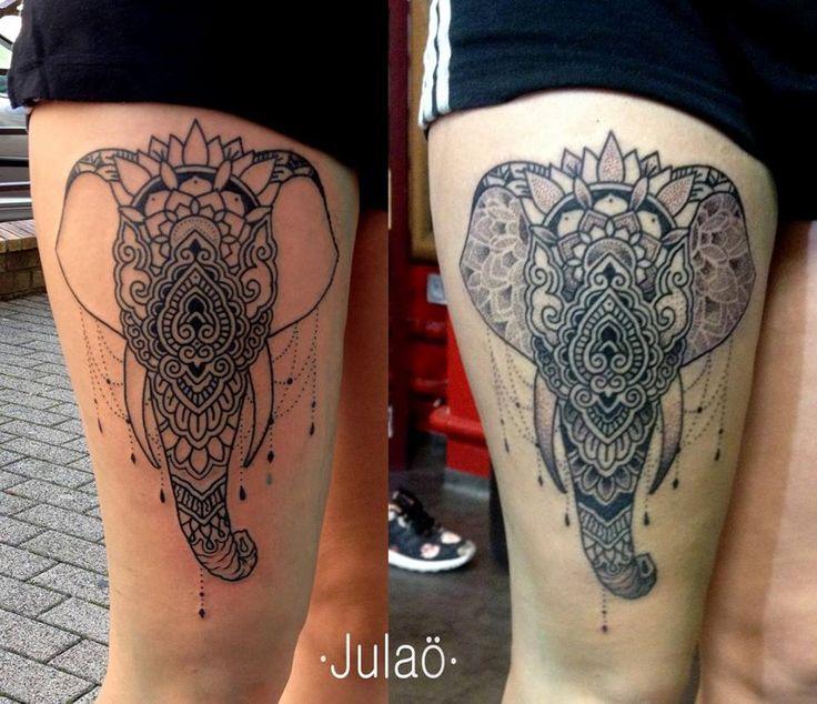 Julaö #julao #tattoo #blackwork #dotwork #mandala #mehndi #elefant #elephant #geometry
