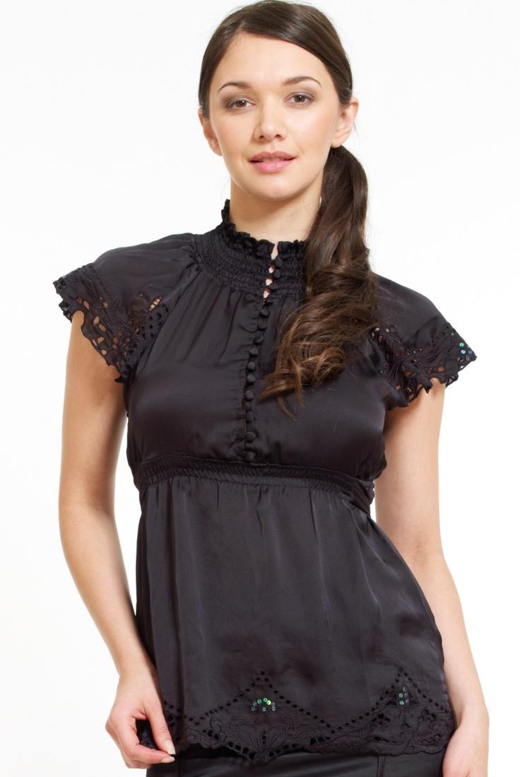 Black old school blouse