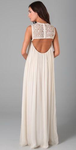 .: Summer Dresses, Wedding Dressses, Wedding Dresses, Backless Maxi Dresses, Chiffon Dresses, Open Back, White Gowns, Back Details, Adam Chiffon