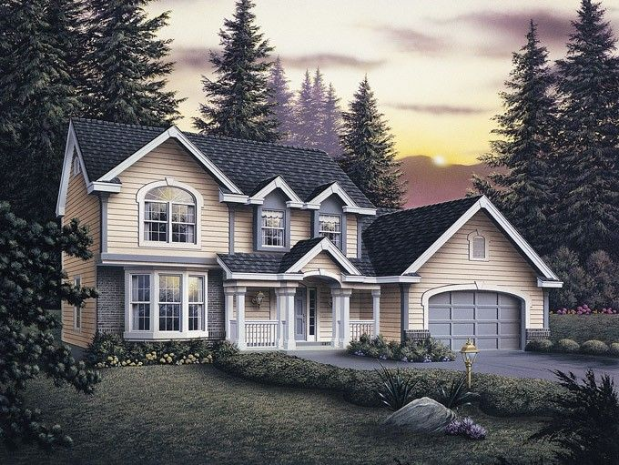 Eplans New American House Plan - Tree Tops - 2258 Square Feet and 4 Bedrooms from Eplans - House Plan Code HWEPL64597